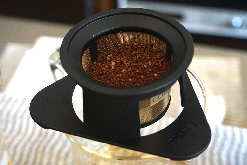 シングルカップゴールドフィルターをLUKEA! coffee中井さんが使ってドリップ