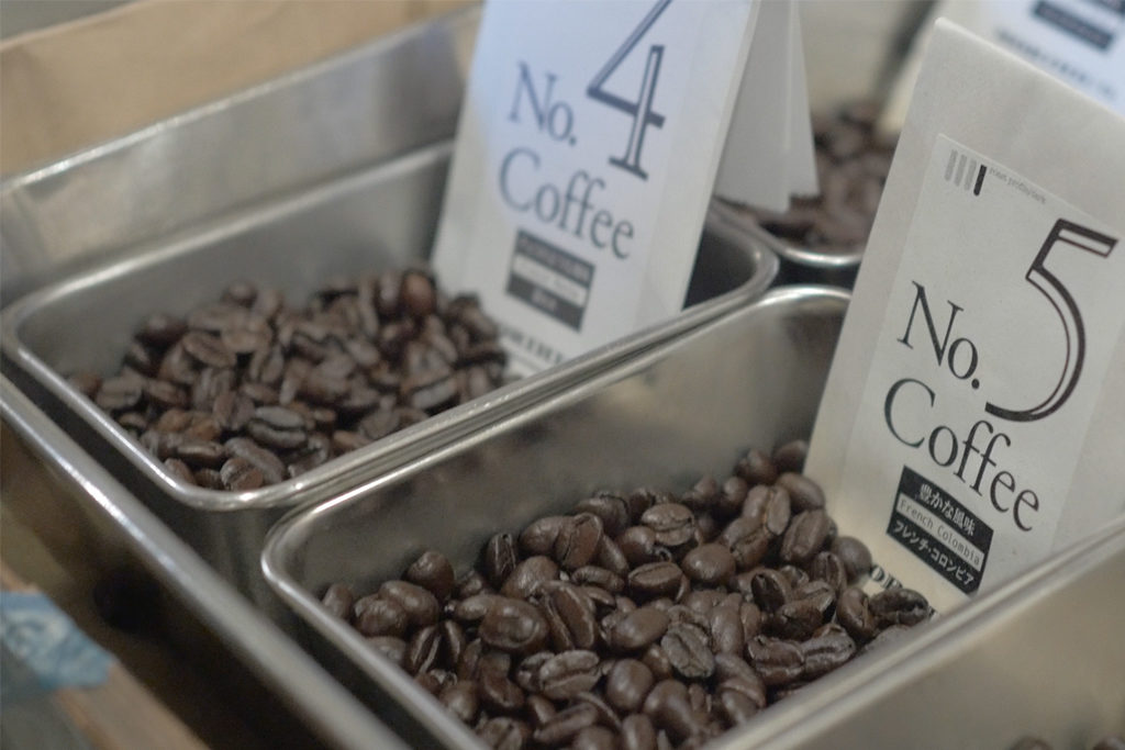 MORIHICO.で焙煎されたコーヒー豆