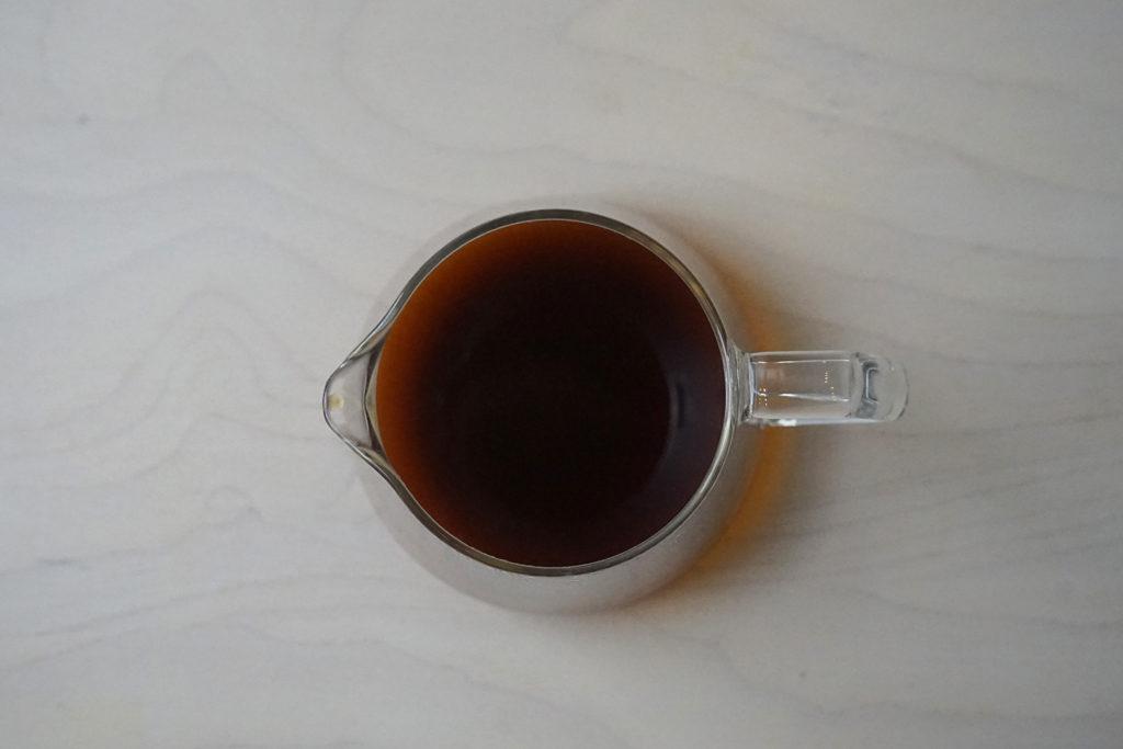 濁った色のコーヒー