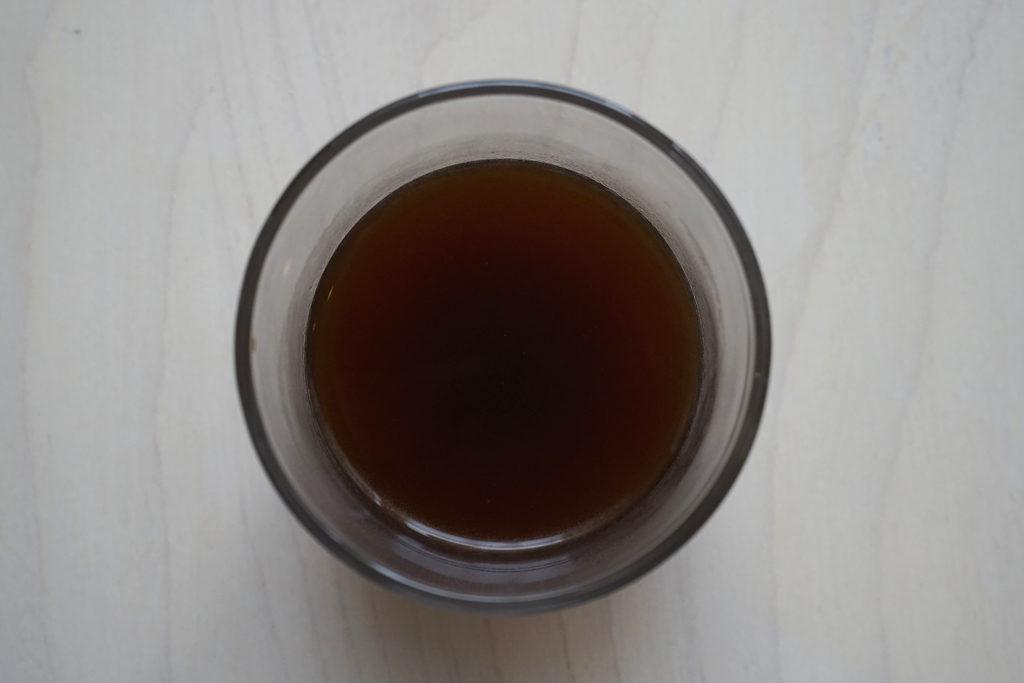 茶こしで淹れたコーヒー