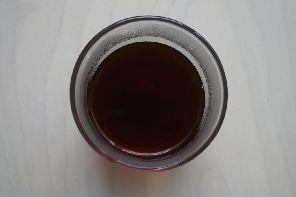 ペーパーフィルターで淹れたコーヒー