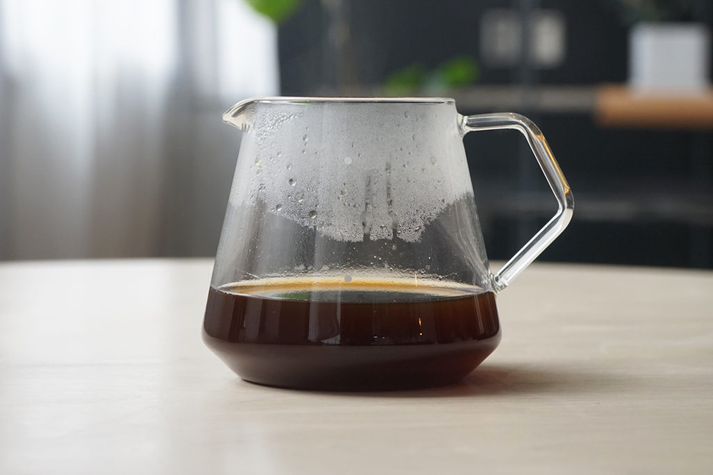 cores(コレス)ゴールドフィルター C245で淹れたコーヒー