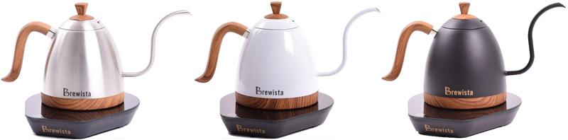 Brewistaの電気ドリップケトルのカラーバリエーション
