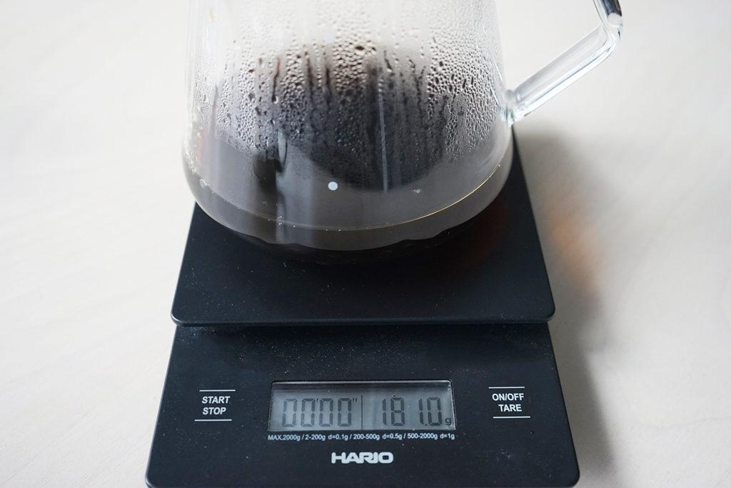 簡単な淹れ方で出来上がったコーヒー