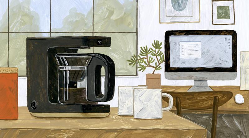 象印の『STAN.』シリーズのコーヒーメーカーイラスト