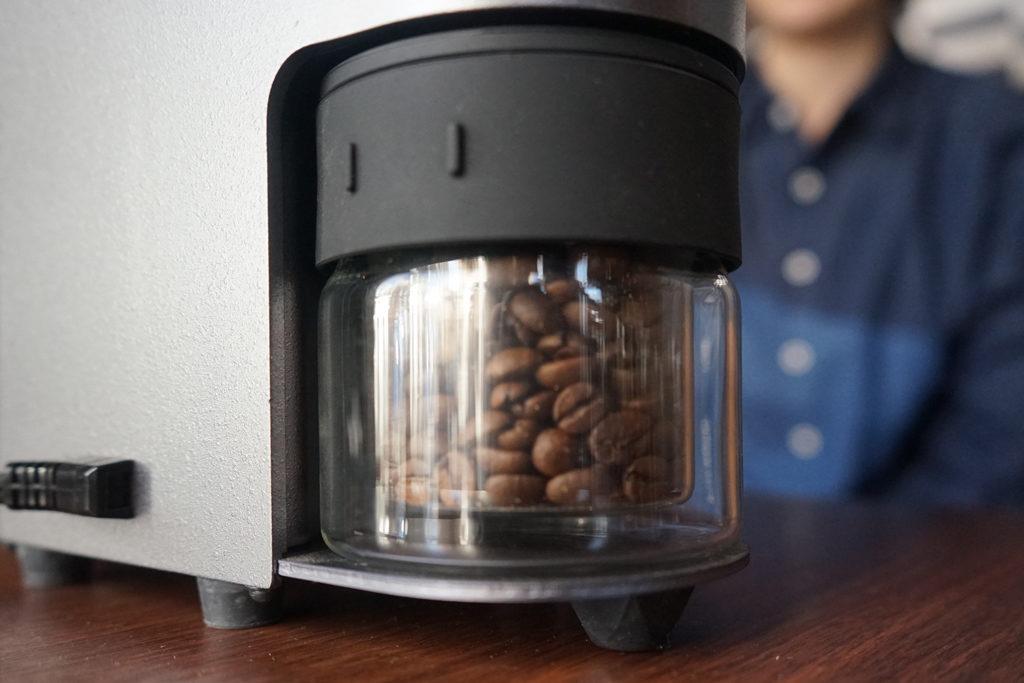 コーヒー豆排出