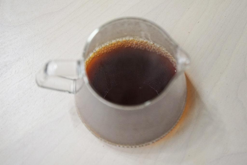 メリタで淹れたコーヒー