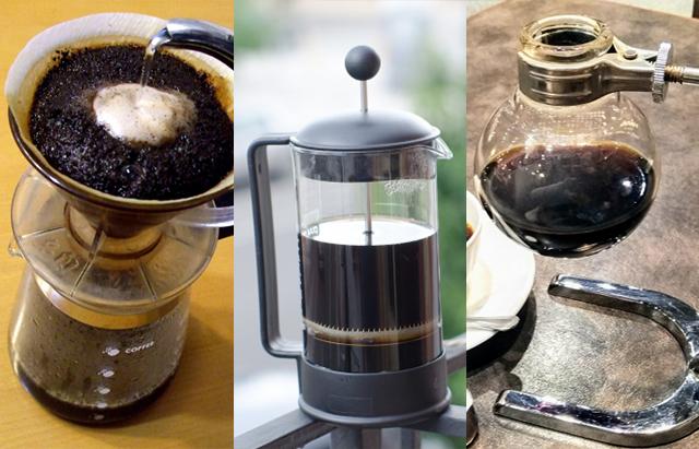 普通のコーヒーの様々な淹れ方