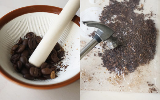 【ミルが無い時に読みたい】いつもコーヒーミルを使っている僕が、すりばちとハンマーを代わりに使ってみた