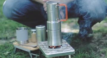 火にかけてコーヒーを抽出