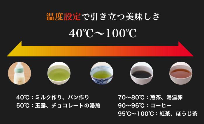 PO-145 温度調整付ケトル「アラビカ」の温度ごとの味わいの違い