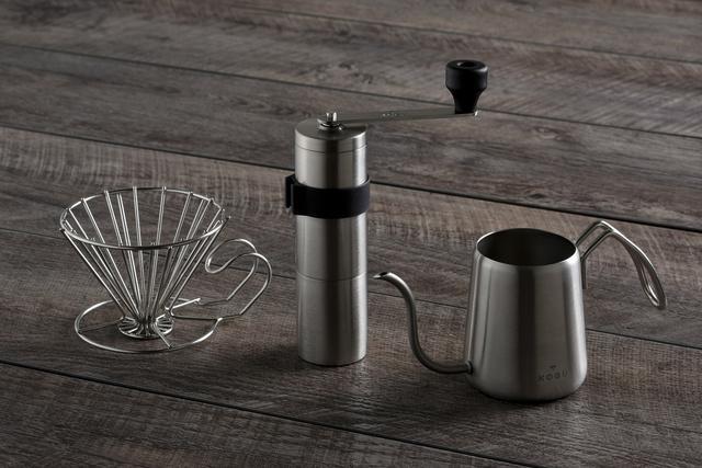 パウダーコントロールミルを含めた珈琲考具シリーズの器具