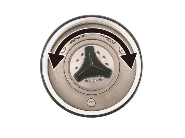 ビタントニオ コードレスコーヒーグラインダー 挽目調整ダイヤル