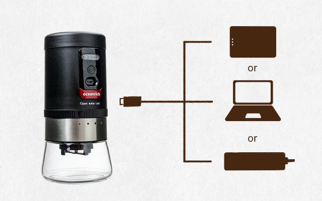 USB充電可能なコーヒーミル