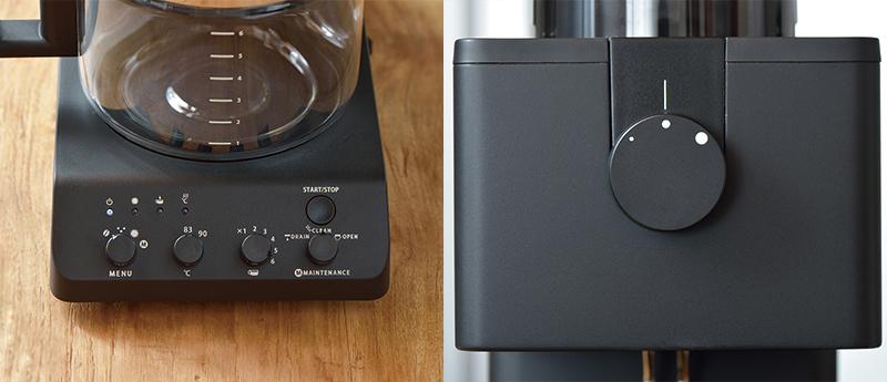 『全自動コーヒーメーカー CM-D465』調整ボタン