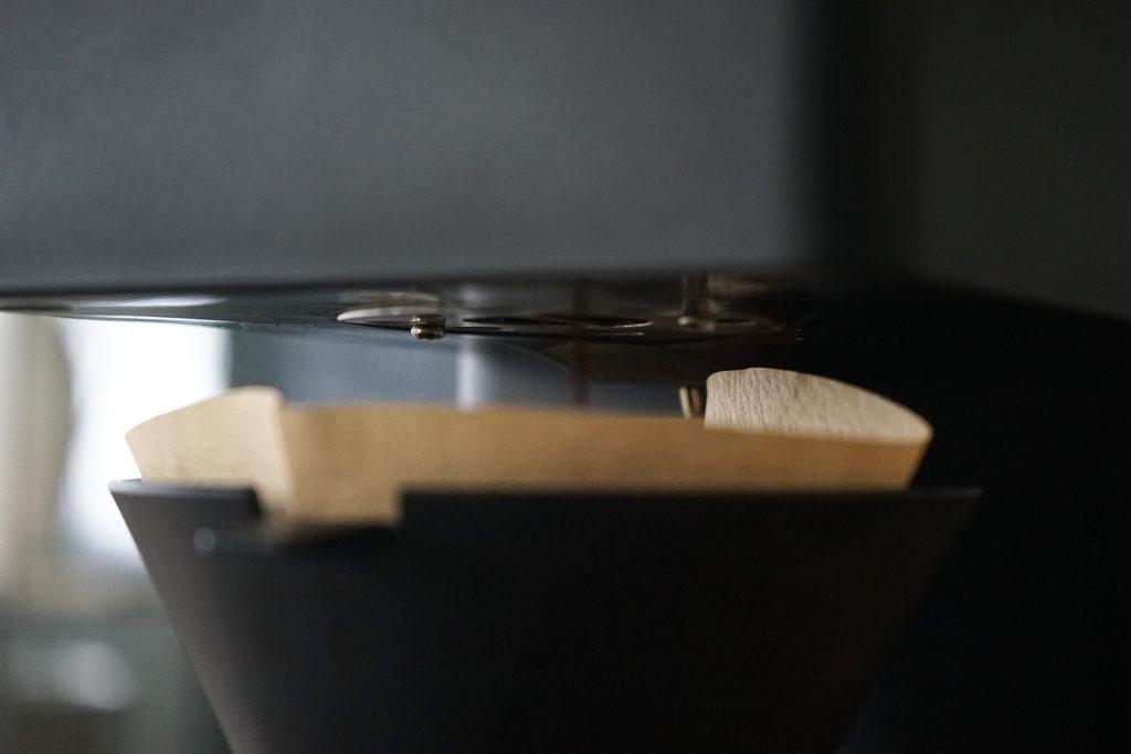 挽かれたコーヒー粉