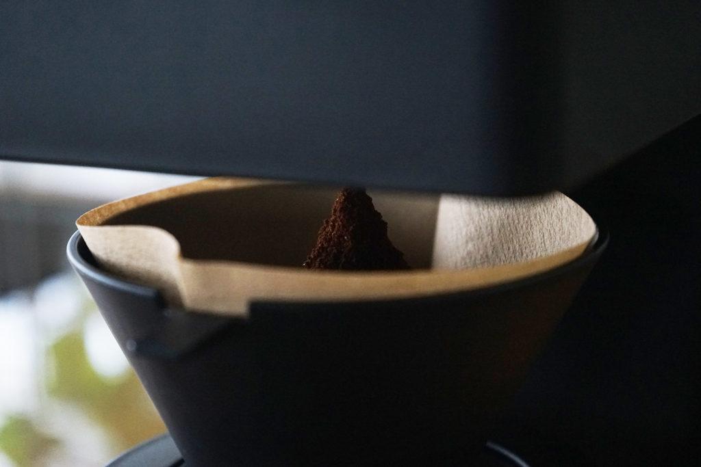 山になったコーヒー粉