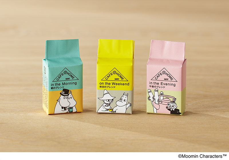 『CAFE@HOME ムーミンシリーズ』3種のオリジナルブレンドコーヒー