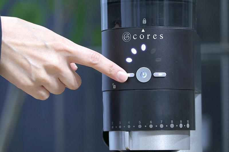 cores(コレス)コーングラインダーC330 タイマー調節ボタン