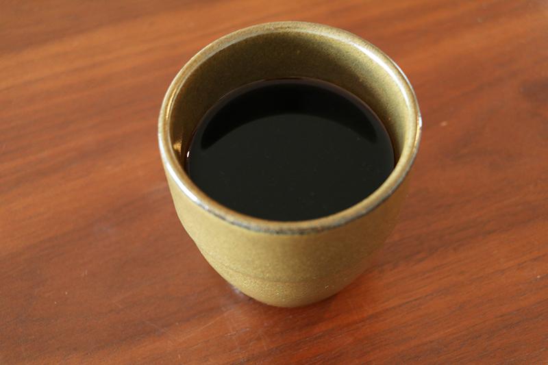 スピールで淹れたコーヒー