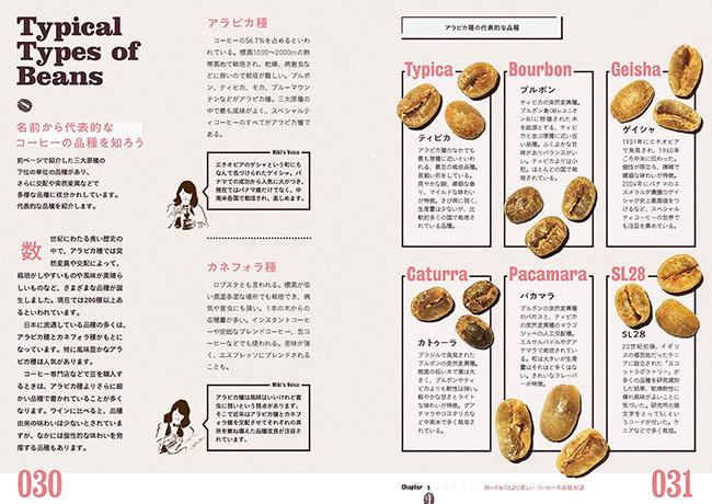 『淹れる・選ぶ・楽しむ コーヒーのある暮らし』 豆の品種